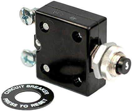 K4 30 Amp Pushbutton Reset Circuit Breaker #10 Screw Terminals