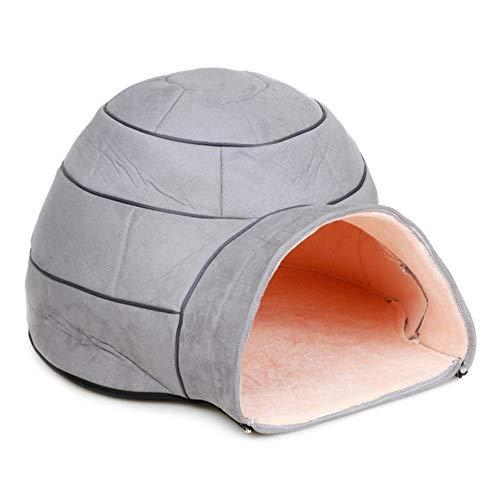 BiBaBoMax Winter Warm Pets Nest Dog Soft Fabric House Yurts
