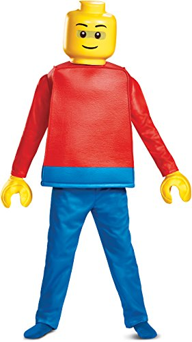Disguise Lego Guy Deluxe Child Costume, Red, -