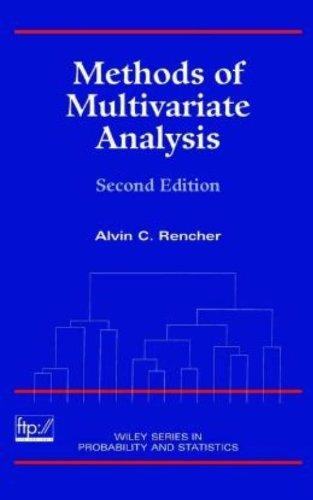 Methods of Multivariate Analysis (Wiley Series in...