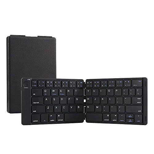 Bluetooth Keyboard, Moreslan Foldable Wireless Keyboard for Android Windows IOS Laptop Tablet Smartphone and More, Ultra-Slim Portable Pocket Sized Keyboard with Built-in Rechargeable Battery by Moreslan
