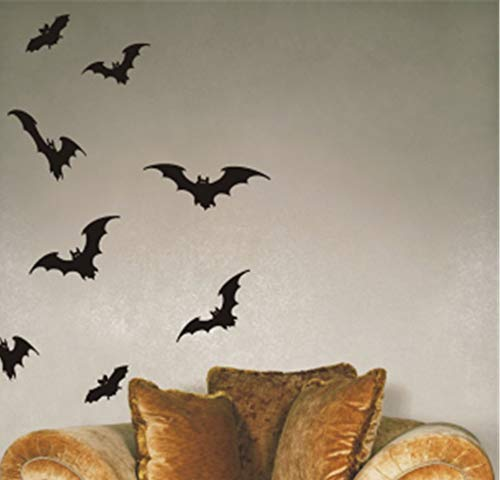 Uertyz Quotes Art Decals Vinyl Removable Wall Stickers Bats Halloween for Nursery Kid Room Child