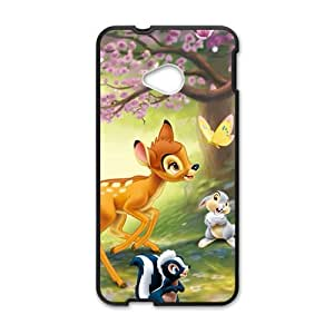 Happy Spring scenery deers and lovely small animal Cell Phone Case for HTC One M7