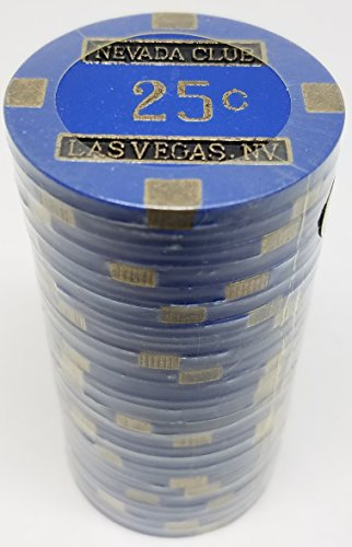 Poker Chips - (25) 25¢ Nevada Club 15 gram Clay Composite ()