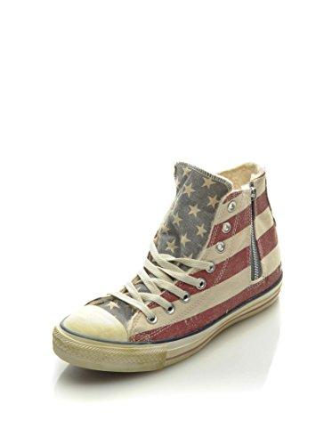 Hi Sneaker Converse Alta A s 37 Zip Side Canv Prin 5 Eu Shea Rosso beige wIqdqxrp