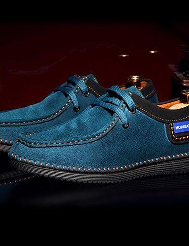 Stringate Casual-Zapatillas de dedos para hombre, color azul/marrón/marrón claro, azul: Amazon.es: Deportes y aire libre