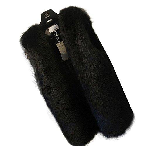 ティッシュトラック手のひらメルミー(MeLuMe) レディース ボリュームファーベストジャケット ジレ ロングジャケット コート 大人アイテムの必需品 かっこいいロングベストジャケット 大きいサイズも フェイクファー