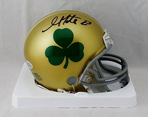 Golden Tate Autographed Notre Dame Shamrock Mini Helmet - Beckett W Auth Black