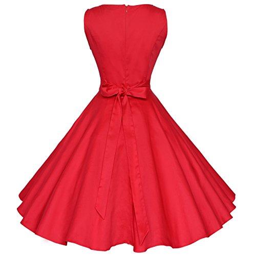 Weinlese Schwingen Kleid Rot Pinup 60er Maggie Cocktail 50er Rockabilly Tang Partei TqxwpFnp