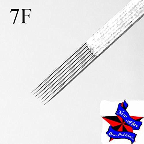 New Star Tattoo Box Of 50#12 7F Pro Flat Shader Premade Sterile Tattoo Needles Supply 1207F