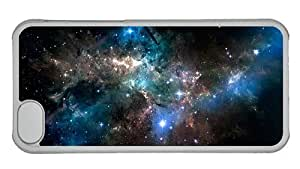 Hipster design iPhone 5C cover space sparkling stars PC Transparent for Apple iPhone 5C