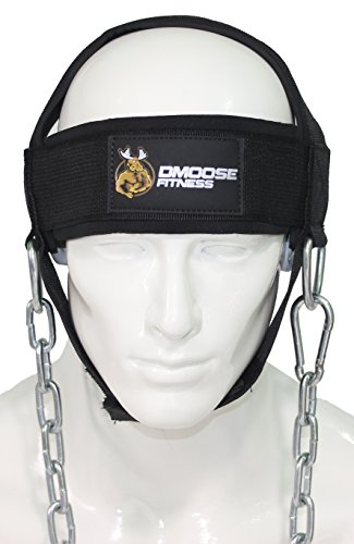 Homemade Braces Costume (Neck Head Harness for Resistance Training by DMoose Fitness. Extra-Heavy D-Rings and Steel Chain, Comfort Fit Neoprene, Superior Saddle Stitching. Build A Thicker Neck with Durable Exercise Neck Strap)