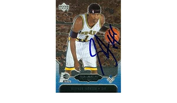 Stephen Jackson autographed Basketball Card (Indiana Pacers) 2005 Upper  Deck Black Diamond  33 - Basketball Autographed Cards at Amazon s Sports ... 53a26b464
