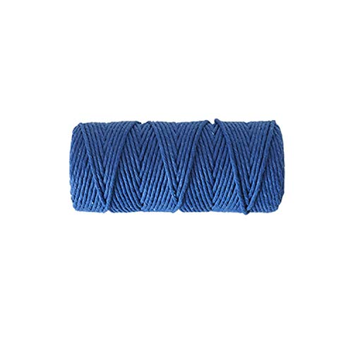 (3Mm Home Woven Handmade Single-Strand Color Cotton Rope DIY Rope Decorative Cotton Thread,Blue)