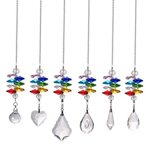 (Gatton Crystal Suncatcher Chakra Crystal Prism Ball Hanging Glass Ball Pendant 6 of Pack for ding,Plants,Cars,Window Decor | Model WDDNG - 979 |)