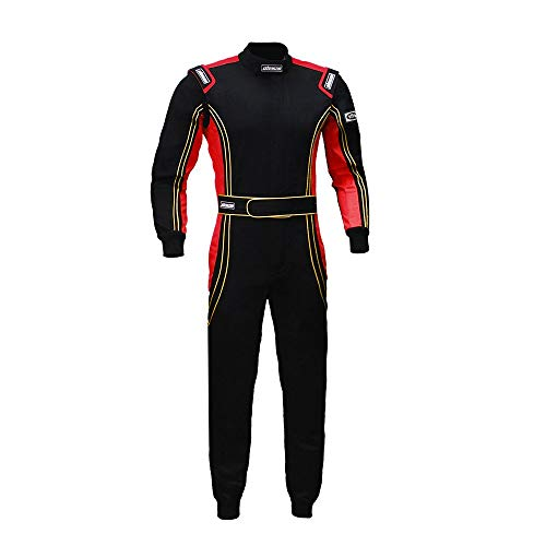 jxhracing RB-CR014 One Piece Auto Go Karts Racing Suit Red Medium ()