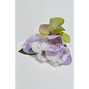 Beautiful Silk Artificial Purple Iris and Hydrangea Wedding Buttonhole 3