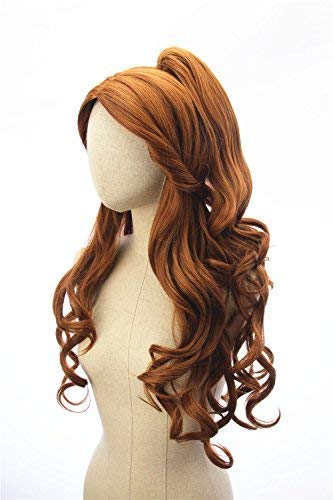 SoulWigs: Princess Inspired Long Brown Wavy Prestyled Wig Halloween Cosplay for Women and Teens -