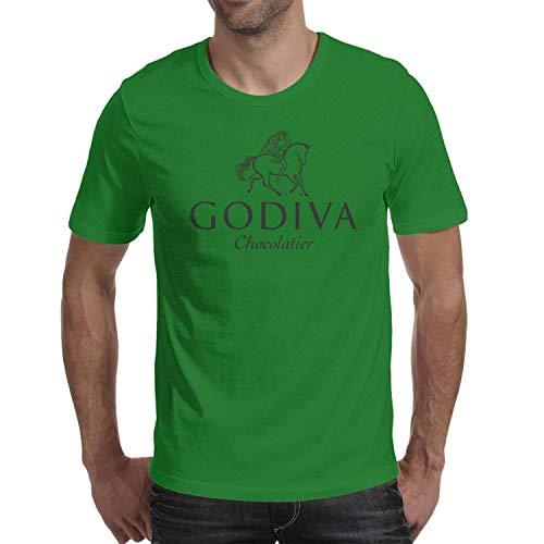 QUYNFFRDS Godiva-Logo Short Sleeve T Shirt Large Gym Hygroscopic Shirt ()