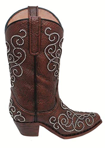 Cowgirl Kim Studded Cowboy Boot Vase