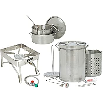Amazon Com Bayou Classic 32 Quart Complete Stainless