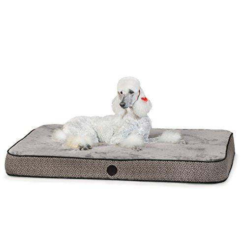 K&H Pet Products Superior Orthopedic Pet Bed Large Gray Paw/Bone Print 40