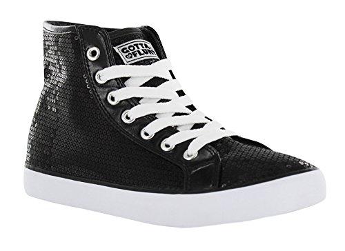 Gotta Flurt Hi Disco II Lace Up Top Sneaker, Black, 7.5 by Gotta Flurt