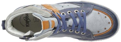 Primigi BENGY-E - Pantuflas de caña alta de cuero niño azul - Blau (AZZURRO/DENIM)