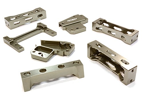 Integy Hobby RC Model C26276GUN Billet Machined Chassis Cross Brace Set for most Tamiya 1/14 Scale Tractor Truck