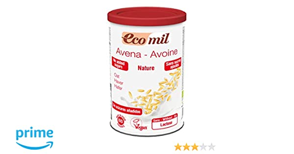 EcoMil - Leche de Avena en polvo EcoMil, 400g: Amazon.es: Alimentación y bebidas