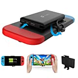 Charger Case for Nintendo Switch HCW® 10000mAh Portable Rechargeable Power Bank -For Nintendo Switch Travel Stand Battery Charge Backup