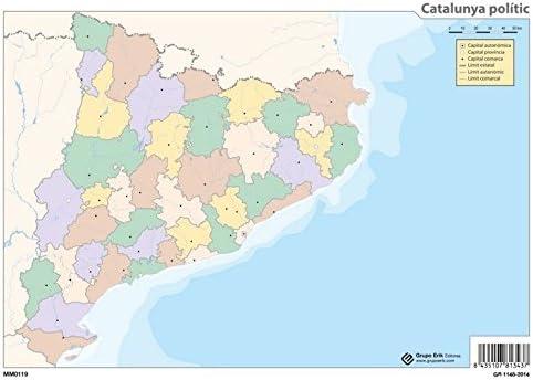 Grupo Erik Editores Mapa Mudo Catalunya Politico: Amazon.es ...