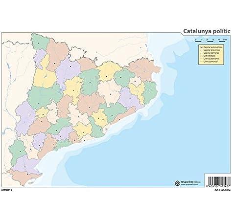 Grupo Erik Editores Mapa Mudo Catalunya Politico: Amazon.es: Oficina y papelería