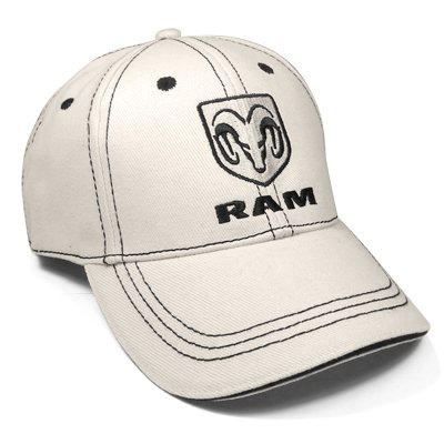 Dodge RAM Logo Beige Baseball Hat, Official - Beige Baseball Logo
