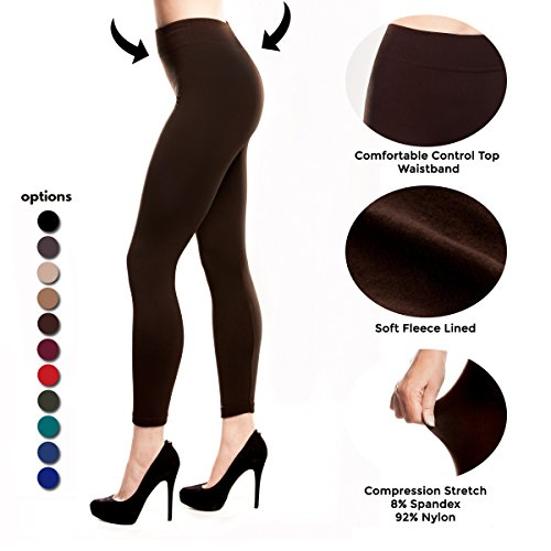 Fleece Lined Leggings for Women Winter Thick Spandex Tights Thermal