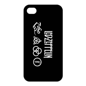 Fashion Led Zeppelin Personalized iPhone 4 4S Rubber Silicone Case Cover