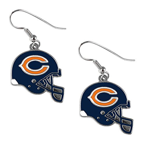 Sports Team Chicago Bears J Hook Dangle Logo Earring Set