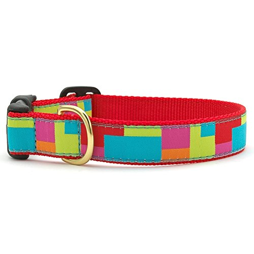 """Up Country Color Block Dog Collar XS - 6-12"""""""
