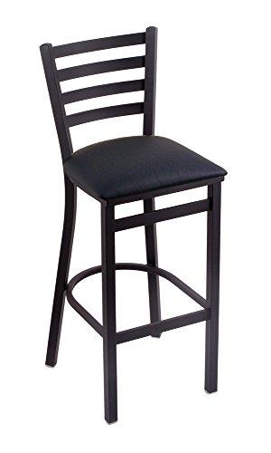 Holland Bar Stool Company 400 Jackie 25-Inch Stool with Black Wrinkle Finish, Black Vinyl Seat ()