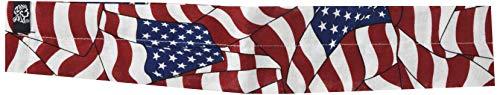 Cotton Wavy American Flag - ZANheadgear Cooldanna 100 Percentage Cotton Wavy American Flag Head and Neck Tie