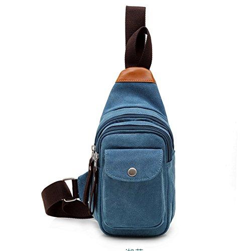 NUBEN - Bolso al hombro para hombre Azul azul azul