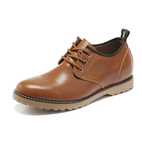 Shoes Height Oxfords 36 Elevator Increasing Taller Casual Business Genuine 2 Leather Sorrel inches wSxZOqXxP