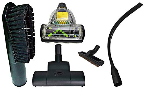 """ZVac Compatible Attachment Kit Replacement for Dirt Devil Pro & Platinum Force Central Vacuums Premium Generic Dirt Devil Central Vacuum Attachments with Floor Brush, 24"""" Flexible Crevice Tool +"""