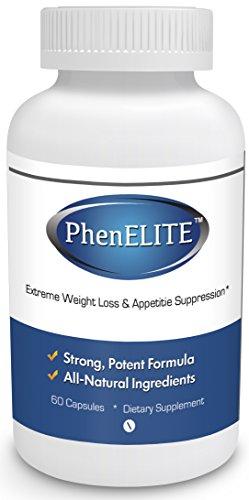 PhenELITE - Лидеры рейтинга фармацевтического качества Потеря веса Таблетки для похудения - Быстрая потеря веса, Hyper-метаболизирующего Fat Burner и аппетит подавитель - Похудеть на 100% гарантированы! (1 бутылка - 1 месяц Поставка)