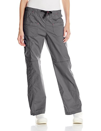 (WonderWink Women's Wonderflex Faith Scrub Pant, Pewter,)