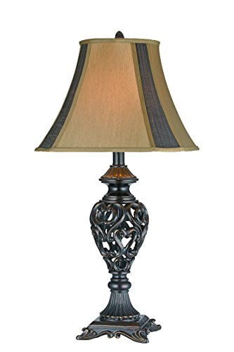 intricate Open Heart and Scroll Table Lamp (Set of 2) [Set of 2]