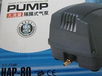 HAILEA HAP-80 - Compresor Membrana Silencioso: Amazon.es: Productos para mascotas