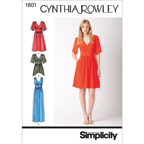 - Simplicity Cynthia Rowley Pattern 1801 Misses Dress in 2 Lengths or Tunic Size 14-16-18-20-22