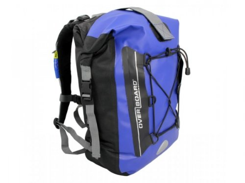 Overboard ~ Premium 30 Litre Waterproof Backpack – Blue, Outdoor Stuffs