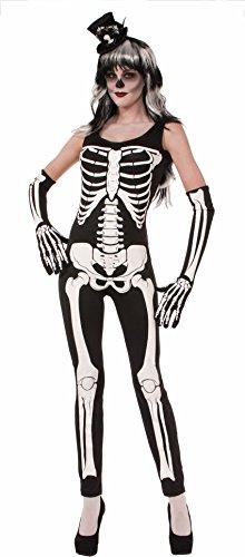 Forum Novelties Women's Skeleton Jumpsuit, Multi, Medium/Large